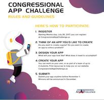 Students may pick-up information at the front office. The winning app will be  displayed at the US House of Representatives in Washington D.C.